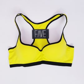 Bright Yellow Gym Bra