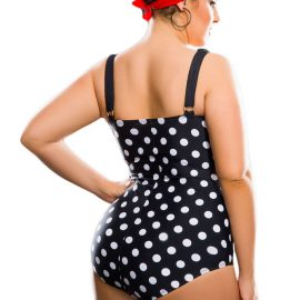 Black-White-Polka-Dot-Plus-Size-One-Piece-Swimsuit-LC41920-2-2