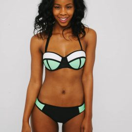 3b101bc974428 Black   Green Multi-Colour Geometric Bikini