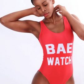7600457edf4f4 Red Bae Watch Full body Bikini